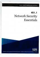 401.1 – Network Security Essentials