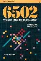 6502 assembly language programming [Second Edition. Includes 62C02]  007881216X
