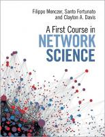 A First Course in Network Science [1 ed.]