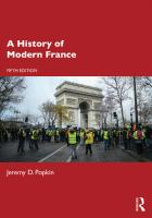 A History of Modern France  9781138557185