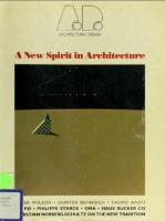 A New Spirit in Architecture