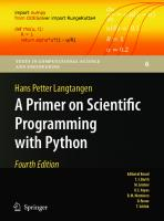 A primer on scientific programming with Python [4th ed]  9783642549588, 9783642549595, 3642549586, 3642549594