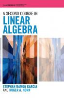 A Second Course in Linear Algebra  9781107103818