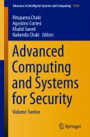 Advanced Computing and Systems for Security [12]