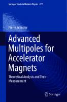 Advanced multipoles for accelerator magnets : theoretical analysis and their measurement  978-3-319-65666-3, 331965666X, 978-3-319-65665-6