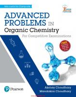 Advanced Problems in Organic Chemistry  9789352860371, 9352860373
