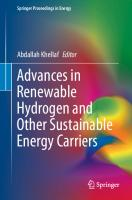 Advances in Renewable Hydrogen and Other Sustainable Energy Carriers [1st ed.]  9789811565946, 9789811565953