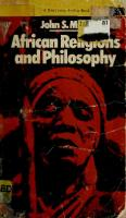 African religions and philosophy  0385037139