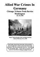 Allied War Crimes in Germany