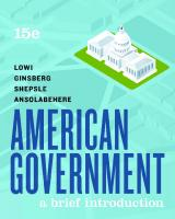 American Government: A Brief Introduction [15, illustrated]  0393674932,  9780393674934