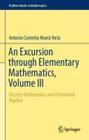An excursion through elementary mathematics, Vol.3  9783319779768, 9783319779775