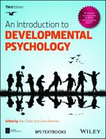 An Introduction to Developmental Psychology [3rded.]  9781119025085, 1119025087
