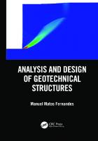 Analysis and Design of Geotechnical Structures [1ed.]  0367026635, 9780367026639