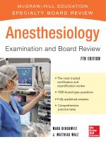 Anesthesiology Examination and Board Review [7th Edition]  9780071801539