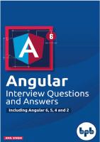 Angular Interview Questions and Answers: Including Angular 6,5,4 and 2