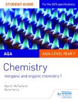 AQA chemistry. Student guide 2, Inorganic and organic chemistry 1  9781471843693, 1471843696