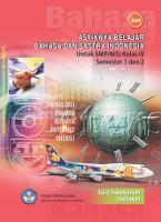 Asyiknya Belajar Bahasa dan Sastra Indonesia Untuk SMP/MTs Kelas IX Semester 1 dan 2  9789790686649