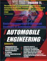 Automobile Engineering.  Basic Fundamentals. Basic Fundamentals to Advanced Concepts of Automobile Engineering