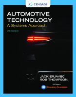 Automotive Technology: A Systems Approach [7ed.]  2018958672, 9781337794213