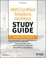 AWS Certified Solutions Architect Study Guide, 3E- Associate SAA-C02 Exam (Aws Certified Solutions Architect Official: Associate Exam) [3ed.]  9781119713081, 9781119713098, 9781119713104, 1119713080