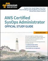 AWS certified SysOps administrator official study guide: associate exam  9781119377429, 9781119377443, 9781119377436, 1119377420