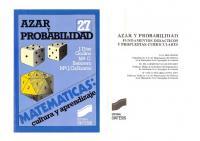 Azar y probabilidad. Fundamentos didácticos y propuestas curriculares  4541151543