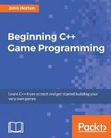 Beginning C++ Game Programming  1786466198, 9781786466198