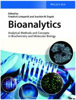 Bioanalytics Analytical Methods and Concepts in Biochemistry and Molecular Biology
