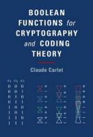 Boolean Functions for Cryptography and Coding Theory  9781108473804
