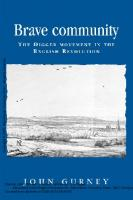Brave Community: The Digger Movement in the English Revolution