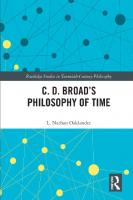 C. D. Broad's Philosophy of Time  9780415998123