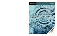 Cambridge International AS & A Level Mathematics: Pure Mathematics 2 & 3 Coursebook  9781108407199