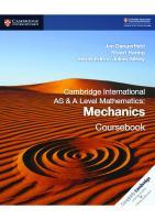 Cambridge International AS and A Level Mathematics: Pure Mathematics 1 Coursebook  9781108407144, 1108407145