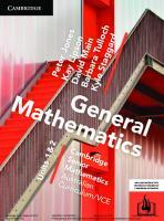 Cambridge Senior Mathematics Australian Curriculum/VCE  9781107567559