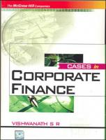 Cases in Corporate Finance  0070090254, 9780070090255