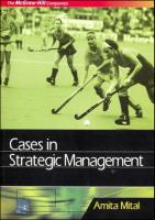Cases in Strategic Management  9780070660274, 0070660271