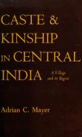 Caste and kinship in central India : a village and its region [1st paperbound ed.]  9780520008359