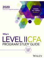 CFA 2020 L2 Wiley study guide V3