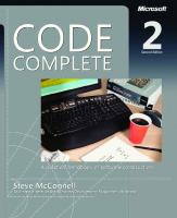 Code Complete: A Practical Handbook of Software Construction (with PDF outline) [2nd Edition]
