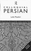 Colloquial Persian  0415026180, 9780415026185
