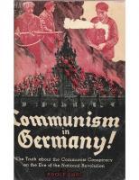 Communism in Germany 1920-1930