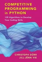 Competitive Programming in Python: 128 Algorithms to Develop Your Coding Skills  9781108716826, 9781108591928, 2020022774, 2020022775