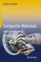 Composite Materials: Science and Engineering [4th ed. 2019]  978-3-030-28982-9, 978-3-030-28983-6