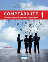 Comptabilité 1 : Analyse et traitements des données du cycle comptable. [1, 7e éd. rév.ed.]  9782765039716, 2765039712