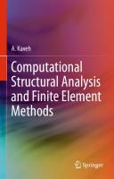 Computational Structural Analysis and Finite Element Methods [1st ed.]  9783319029634, 9783319029641, 3319029649