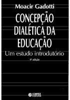 Concepção dialética da educação. Um estudo introdutório  8524902434