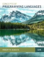 Concepts of Programming Languages [12ed.]