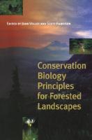 Conservation Biology Principles for Forested Landscapes  0774806303, 9780774806305