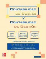 Contabilidad de costes y contabilidad de gestión [2a ed.]  9788448170929, 844817092X, 9788448170943, 8448170946