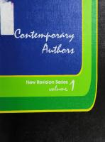 Contemporary authors : new revision series, Volume 1  9780810319301, 0810319306
